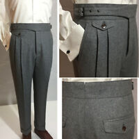Winter Heavy Men's Woolen Gurkha Pants Suit Pants Casual Trousers Straight Loose