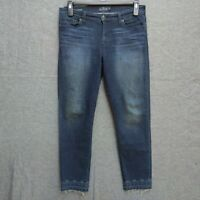 Lucky Brand Brooke Ankle Skinny Womens Jeans Size 10/30 Ankle  Dark Wash Raw Hem
