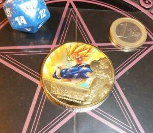 DRAGON BALL Z GT DBZ DBS GOLD METAL COIN CARD CARTE MEDAL BILLET VEGETA NEW MINT