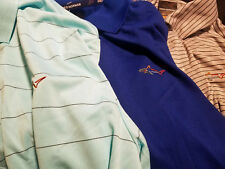 Greg Norman For Tasso Elba Mens Dry Fit Golf Polo Shirts New Small or Medium
