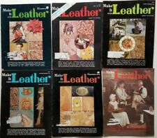 Make it Leather vintage Magazines 6 issues 1975 - 1976 pullouts patterns