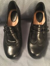 Earth Women's Shoes Mary Jane Black Leather Pumps 8.5 EUC