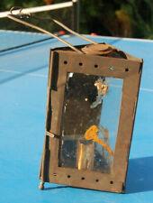 Ancienne lampe à bougie en fer 18 cm