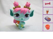 Littlest Pet Shop #2610 Aqua Blue Sparkle Garden Tulip Fairy Purple Eye +1 acces