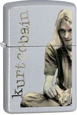 Zippo Kurt Cobain Logo Music American Rock Street Chrome Windproof Lighter 29052