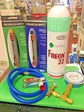 Refrigerant 22, Recharge Kit, LARGE 35 oz Can, Taper, Hose & Gauge, Screwdrivers