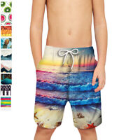 Boys Teenager Swim Board Shorts Swimwear Swimming Trunks Underwear Pockets Pants