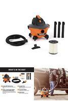 RIDGID Portable Wet Dry 6 Gallon Vacuum Small Shop Vac Cleaner Hose Lightweight