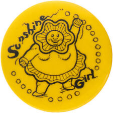 """ADVERTSING BUTTON FOR PIONEERING PSYCHEDELIC CARTOON """"SUNSHINE GIRL"""" PUBLISHED I"""