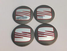 Seat Emblem Wheel Center Cap Sticker Logo Badge Wheel Trims 56mm Set of 4