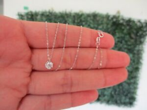 SALE??.10 Carat Diamond Necklace 18k White Gold JS53N sep