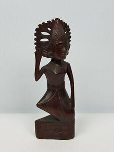 Scultura Africana in legno massello Figura Femminile Arte Africa Artigianale 900