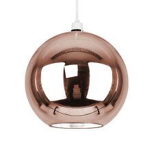 Industrial Metallic Copper Glass Globe Ceiling Pendant Light Shade Lampshade