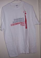 COCA COLA SHARING HAPPINESS CELEBRATING YOU LARGE T- SHIRT NEW