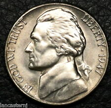 1947-S BU Jefferson Nickel  Free Shipping Satisfaction Guaranteed