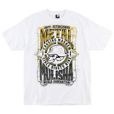 "Metal Mulisha Men's ""West"" Causing Mayhem Skull and Helmet Tee Motocross Tshirt"