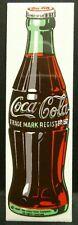 "Dollhouse Miniatures Metal Sign Advertising Coke Bottle COCA COLA 3 1/4"" x 1"""