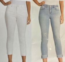 Jessica Simpson Relaxed Skinny Crop Camarillo Blue or White Size 8 10