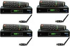 4x Medi@link Smart Home+IPTV Digital Sat Receiver + WLAN Stick Medialink 4 Stück