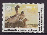 Australia National Parks Wetlands $10.00 conservation cinderella stamp