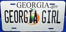 License plate GEORGIA GIRL State specific Aluminum auto tag Made in USA LP-6148