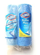 LOT of 2 Clorox Roller Mop Refill Antimicrobial Protection Sponge & Scour NEW