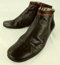 M Squitos Wos Boots Ankle US5.5 Vintage Black Red Leather Zip Wedge Booties 161