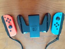 Nintendo Wireless Joy-Con Neon Red/Neon Blue Joysticks and Joy-Con Grip