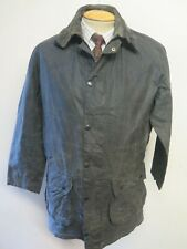 """Barbour A205 Border Waxed jacket - M 38"""" Euro 48 in Blue"""