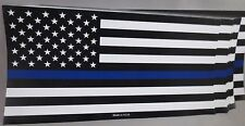 WHOLESALE LOT OF 10 POLICE BLUE LINE FLAG  STICKERS LAW ENFORCEMENT MEMORIAL USA