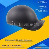 ABS Motorcycle Helmets Baseball Cap Style Motorbike Novelty Half Face Hat Helmet