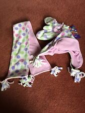 Marks Spencer Children Hat Mittens Scarf set Polka Dot Age 2-4 BNWT M&S & + and