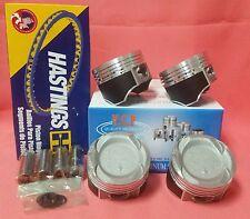 YCP 75mm Vitara Pistons Teflon Coated Low Comp + Rings Honda Crx Civic D16 Turbo