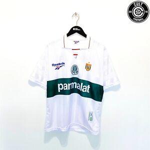 1996 DJALMINHA #10 Palmeiras Vintage Reebok 5th Football Shirt Jersey (M)