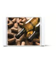 Non Slip Handheld Rectangular Food Serving Tray Wine Bottle Print Pattern 2124