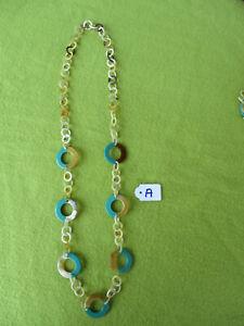 Halskette aus Büffelhorn, Handarbeit, 83 cm lang - 9724 A - SONDERPREIS