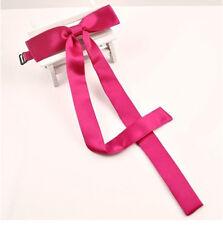 Women Girl Rayon Thin Bowtie Neck Tie School Ribbon Neck Wear Wedding Party