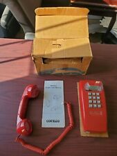 Cortelco Traditional Push Button Corded Red Wall Telephone 255447-VBA-20M