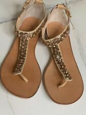 Giuseppe Zanotti Leather Sandals With Crystal Jewels - Size 39