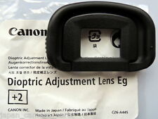 Canon Dioptric Lens Eg+2 for EOS 1DIV,1DX,1Dlll and 1Dslll,5Dlll,5DS,7D.7Dll