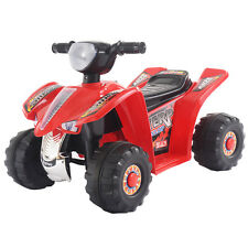 6V Kids Ride On ATV Quad 4 Wheeler Electric Toy Car Battery Power Led Lights