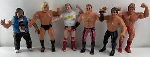 WWF LJN Lot of 6 Rubber Wrestling Super Stars Figures WWE 80's 1989