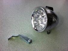 Vintage RETRO Bullet 7 LED Head Light Cruiser Bike City Bicycle Front Light
