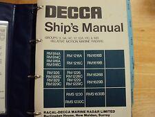 Decca Marine Radar vintage service manual   used