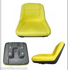 RIDE ON MOWER SEAT GARDEN TRACTOR SEAT YELLOW JOHN DEERE SEAT
