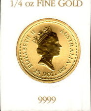 1987 Australian 1/4 oz  Gold Nugget Coin - Genuine Great Gift