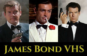 James Bond VHS Videos from £1.50 each - many new/sealed