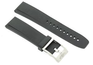 Genuine Breitling Diver Pro II 132S 20mm Black Rubber Watch Strap & Steel Buckle