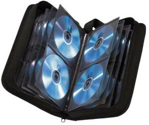 Hama CD-Tasche Wallet Etui Hülle schwarz 64 CDs Nylon Aufbewahrung Transport