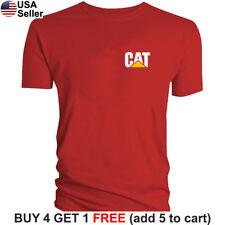 Caterpillar T-Shirt CAT Logo Tractor Equipment Bulldozer Construction Men Chest